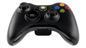 XBOX 360 WIRLESS CONTROLLER, BLACK