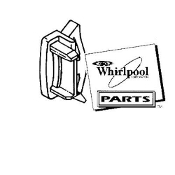 Whirlpool Refrigerator RETAINER  SMALL WHITE 839975