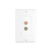 Pair Banana Jack Wall Plate