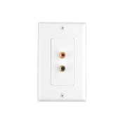Double RCA Jacks Wall Plate