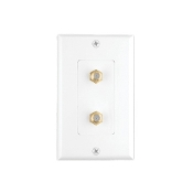 Decora Style Double Coax Wall Plate, CAT-60