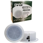 "6.5"" (120W) Full Range In-Ceiling Speaker System w/ Dual Cone -"