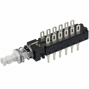 PC Mount Pushbutton Switch, 12-Pin, SW-27L