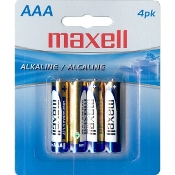 Maxell AAA (Blister Card) - 4 Pack