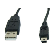 USB 2.0 A to Mini USB (5 Pin Connector) Cable