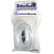 100' 4-Conductor Flat Cable - White