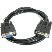 6' (DB9) Male to Female Extension Cable