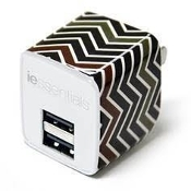 iEssentials Dual USB 2.4A 10W Wall Charger - Chevron