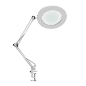 Magnifying Lamp 5X Glass Metal Swing Arm Desk Lamp