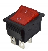 Lighted Rocker Switch, RED