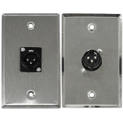 Male Zinc Alloy Wall Plate - 1 Port