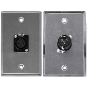 XLR 3 Pin Female Zinc Alloy Wall Plate