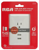 RCA USB Wall Plate Charger