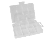 "PLASTIC STORAGE BOX (3.35"" x 5.31"" x 0.98"") - 6 COMPARTMENTS"