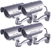 Dummy Security Camera, CCTV Surveillance System with LED Light