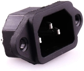 IEC 320 Power Socket, Panel Mount