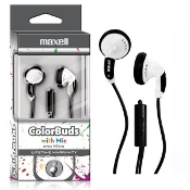 Maxell ColorBuds w/ Microphone - White